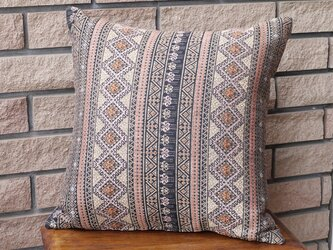 ラオス織クッションカバー brownの画像