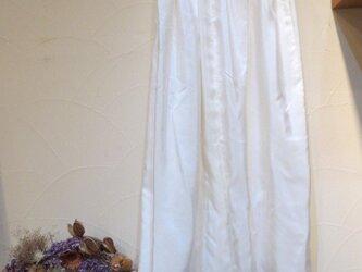 着物リメイク☆生成りの長襦袢から絹ペチコート☆丈はご希望で・・・の画像