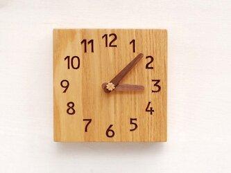 15cm×15cm 掛け・置き時計 タモ【1606】の画像
