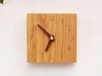15cm×15cm 掛け・置き時計 タモ【1607】の画像