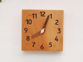15cm×15cm 掛け・置き時計 チェリー【1608】の画像