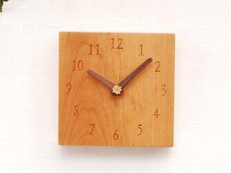 15cm×15cm 掛け・置き時計 チェリー【1610】の画像