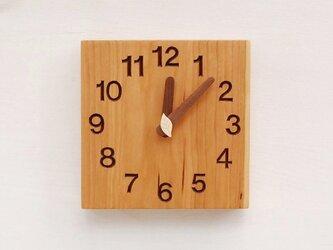 15cm×15cm 掛け・置き時計 チェリー【1612】の画像