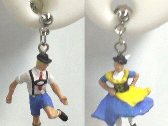 フォークダンスな2人♡ブルー~街の人シリーズ~(ペア)の画像