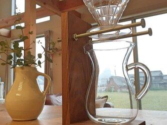 【Cafe style】ドリッパースタンド ウォルナット無垢材の画像