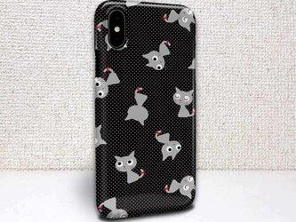 iphone ハードケース iPhoneX iphone8 iphone8 plus iphone7 猫 猫(ネコ)とドットの画像