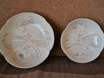 色象嵌木瓜鉢(大)ー 鹿と兎の画像
