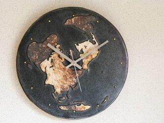 世界地図の掛け時計(大)の画像