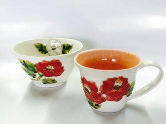 新作 花の器 椿のカップの画像