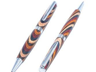 木製の回転式ボールペン(染めたハードウッドの種類;クロムのメッキ)(TP-C-CGF)の画像