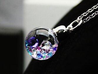 新作Bijou glass Ball Pendant L  クリア系マルチミックスカラーの画像