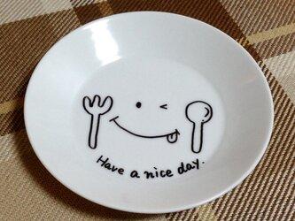 お皿アート【素敵な1日になりますように】の画像