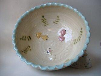 再販・金魚鉢(ボウル大)金魚3匹の画像