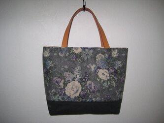 在庫処分 花柄トートバッグの画像