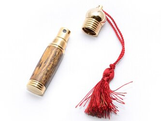 木製の携帯用香水入れ アトマイザー (ボコテ;10金のメッキ) PERF-10G-BOの画像