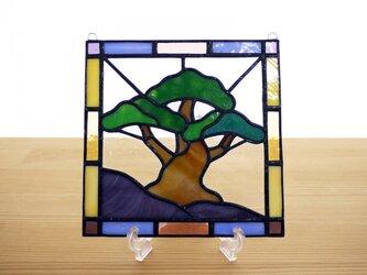 [ご予約品] ステンドグラス ミニパネル 松 15cmの画像