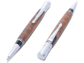 木製の回転式ボールペン(ココボロ;サテン・クロムのメッキ)(EX-SC-CO)の画像