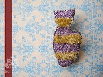 しま猫(紫)の画像