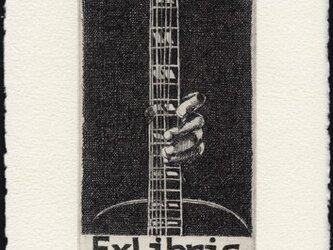 ギター ・蔵書票 / 銅版画 (作品のみ)の画像