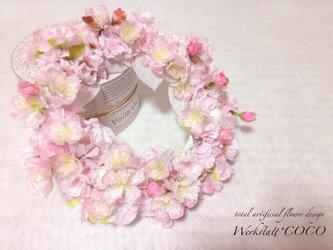 Y様オーダー品 桜リース28センチの画像