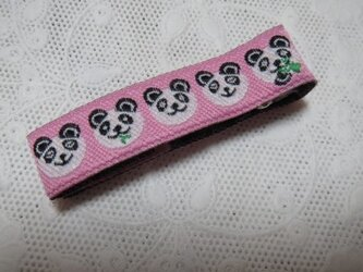 ★ヘアピン★ ピンクのパンダさん柄のヘアクリップの画像