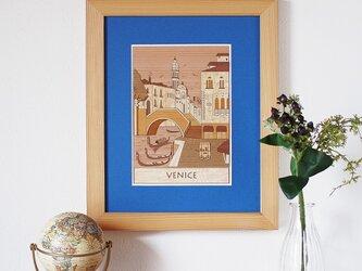 木はり絵「ヴェネツィア」の画像