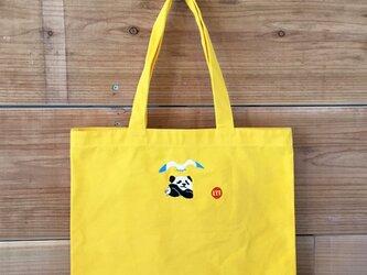 パンダ&カモメ 刺繍&チャーム トート(大)の画像