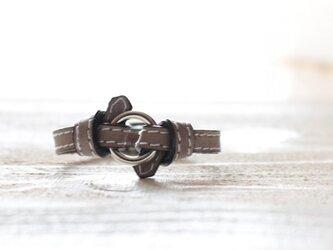 <新色グレージュ>knot ring braceletの画像