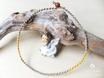 《ゆる〜んゆる〜んプロジェクト》ヘンプのチョーカー(イエロー)の画像
