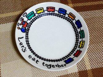 お皿アート【let's eat together】の画像