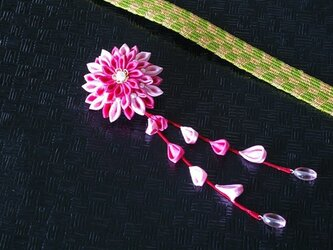 つまみ細工 大輪菊の2wayクリップの画像