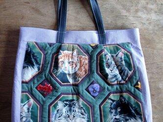 フレーム猫のバッグの画像