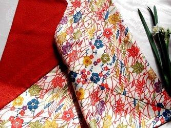 あずま袋*紅型×赤の画像