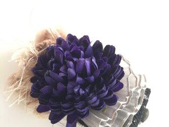 マムのコサージュ(アート・dark-purple)の画像