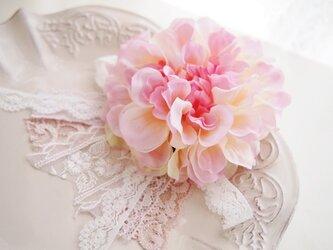 卒園・入学・結婚式に大人可愛いコサージュ・クリームピンク3の画像