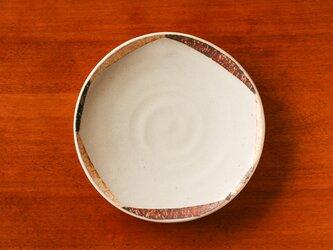 白釉変八角模様五寸皿(ソーサー)の画像