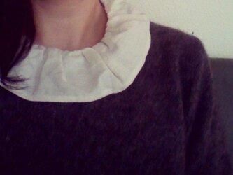 KAKERA フリル付け襟 *オフホワイト* size Mの画像