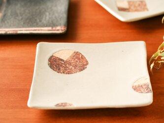 六寸角皿(マル・白釉)の画像