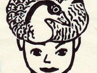 墨木版「雁の人」---2月--Februaryの画像