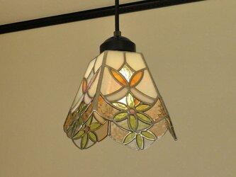イエローのお花(ステンドグラスペンダントライト)天井のおしゃれガラス照明 Lサイズ・3の画像