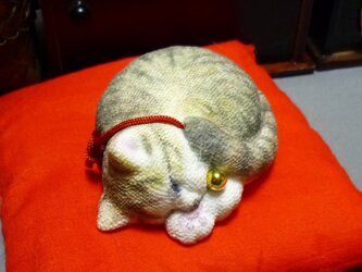 アンモニャイト キジトラ猫さん 座布団つき ラビママ様ご予約品の画像