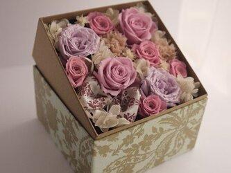 BOXフラワー(pink)の画像