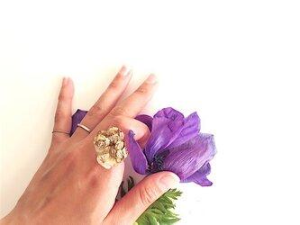 シトリン×ヒノキの実 リング citrine× hinoki cone scale ringの画像