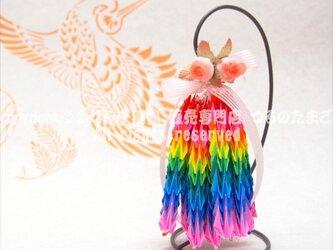 【速達】『子鶴の弟』(スタンド付 千羽鶴 200羽 完成品 / 送料無料)の画像