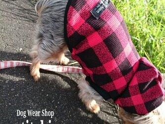 犬服★完成品 【  ブロックチェック  】 胴まわり33cm の画像