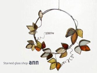 ステンドグラス アイビーリースA160316-Bの画像