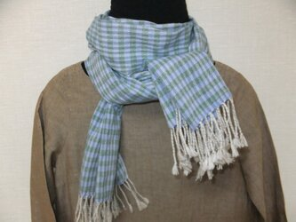 コットン手織りストール#bgの画像