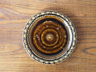 ケーキ皿 こげ茶の画像