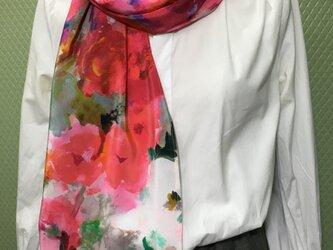 シルクのマフラースカーフ003の画像
