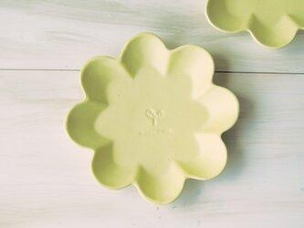 マカロンイエロー・花の皿-L-の画像